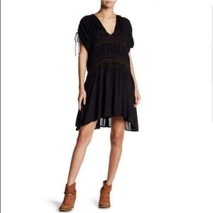 Free People Love On The Run Embroidered Dress